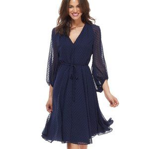 NWT Gal Meets Glam Darby Navy Clip Dots Size 10